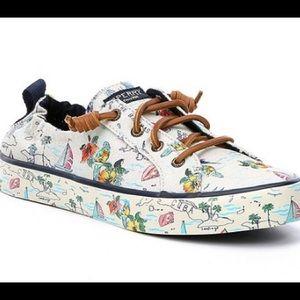 NEW! Sperry Crest Ebb Map Sneakers